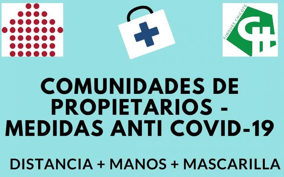 Medidas de seguridad anti Covid-19 en las comunidades de propietarios